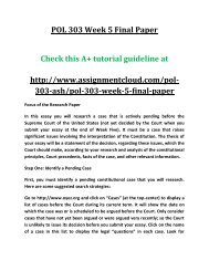 ASH POL 303 Week 5 Final Paper