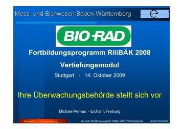 Fortbildungsprogramm RiliBÄK 2008 Vertiefungsmodul - QCNet