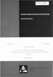 Oktober 1965 Literaturabteilung KFK 370 Laboratorien für Arbeiten ...