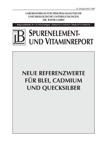 laboratorium für spektralanalytische und biologische - Labor Bayer