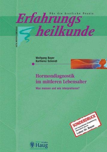 Hormondiagnostik im mittleren Lebensalter - Labor Bayer