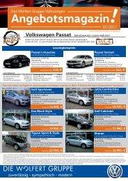 Das Wolfert-Gruppe Volkswagen Angebotsmagazin 01/2017