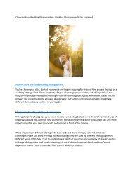 Choosing Your Wedding Photographer6