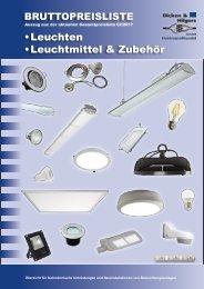 BRUTTOPREISLISTE Dicken&Hilgers GmbH Leuchten Leuchtmittel Melder