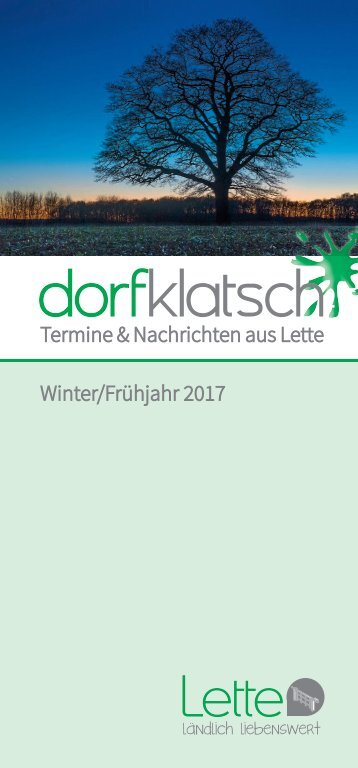 dorfklatsch - Winter/Frühjahr 2017