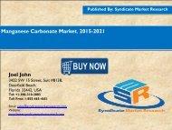 Manganese Carbonate Market, 2015-2021