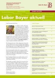 Labor Bayer aktuell – Ausgabe April 2008 (PDF)