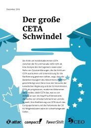 Der große CETA Schwindel