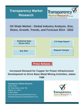 Oil Shale Market - Industry Analysis, Share, Size, Trend, Forecast 2022