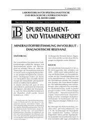 Mineralstoffbestimmung im Vollblut - Labor Bayer