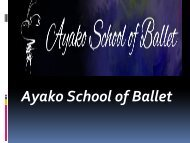 Ayako school of ballet dance school California