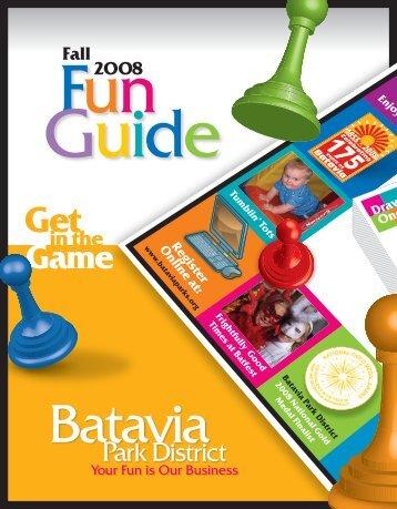 2008 Fall Fun Guide Part 01 - Batavia Park District