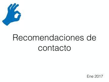 recomendaciones de contacto
