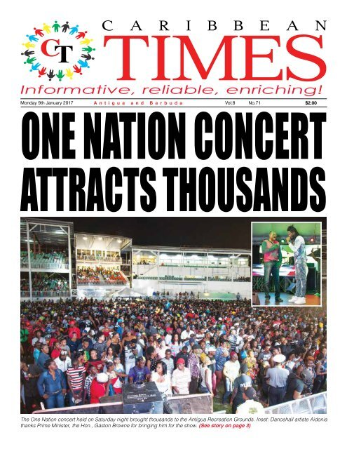 Caribbean Times 71st Issue - Monday 9th January 2017