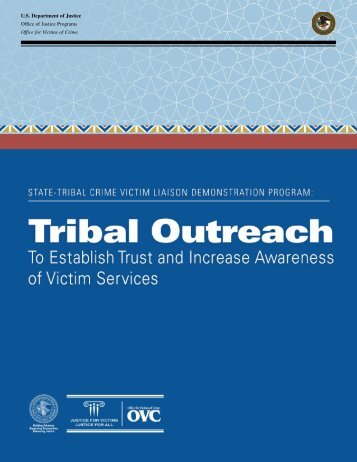 U.S Department of Justice Office of Justice Programs Office for Victims of Crime
