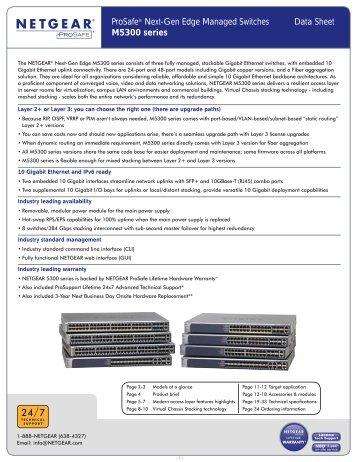 ProSafe® Next-Gen Edge Managed Switches Data Sheet ... - Netgear