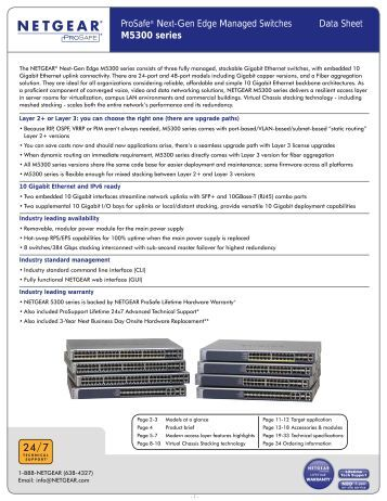 ProSafe® Next-Gen Edge Managed Switches Data Sheet ... - Netgear