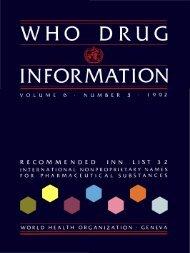 who drug information - World Health Organization