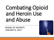 Combating Opioid and Heroin Use and Abuse