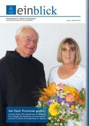 Von Pater Provinzial geehrt: - St. Barbara-Krankenhaus Schwandorf