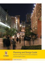 Planning and Design - UNSW Facilities Management - University of ...