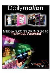 Th M i W k d The Music Weekend - Netpoint Media
