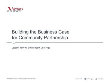 Building the Business Case for Community Partnership
