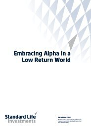 Embracing Alpha in a Low Return World