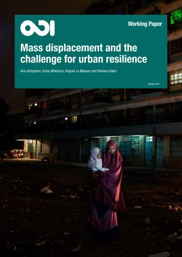 Mass displacement and the challenge for urban resilience