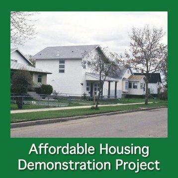 AffordableHousingDemonstrationProject