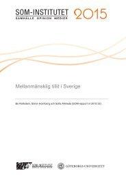 Mellanmänsklig tillit i Sverige