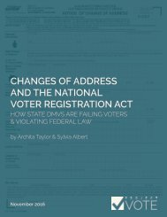 CHANGES OF ADDRESS AND THE NATIONAL VOTER REGISTRATION ACT
