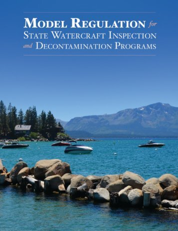MODEL REGULATION STATE WATERCRAFT INSPECTION DECONTAMINATION PROGRAMS