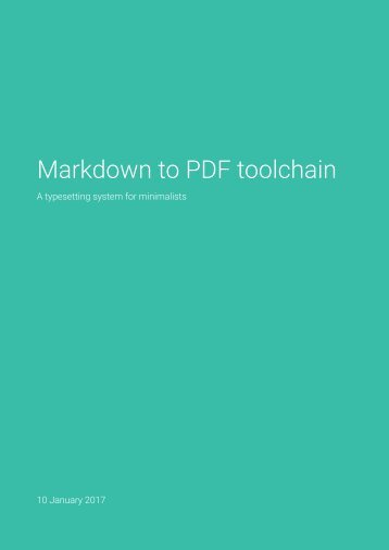 Markdown to PDF toolchain
