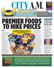 PREMIER FOODS TO HIKE PRICES