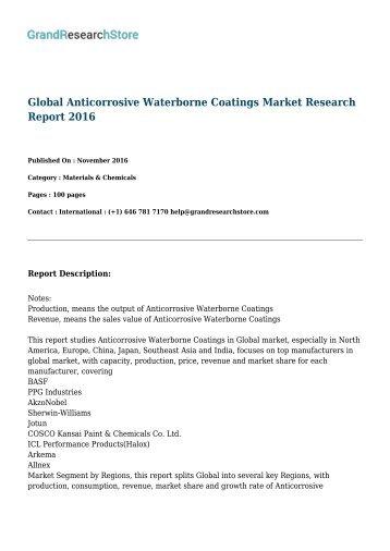 Waterborne Coatings Market- Global Forecast to 2020