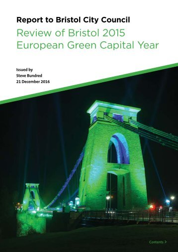 Review of Bristol 2015 European Green Capital Year