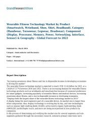 Wearable Fitness Technology Market- Global Forecast to 2022