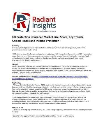 UK Protection Insurance Market Share,  Trends, Critical Illness and Income Protection