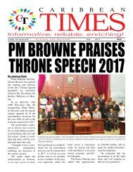 Caribbean Times 72nd Issue - Tuesday 10th January, 2017