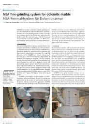 NEA fine-grinding system for dolomite marble - Neuman & Esser