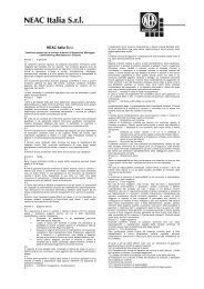 Condizioni di vendita NEAC I assistenza - Neuman & Esser