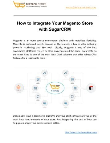 Integrating Magento Store with SugarCRM
