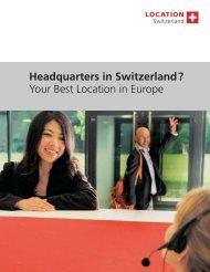 Headquarters in Switzerland - Swiss Chinese Chamber of Commerce