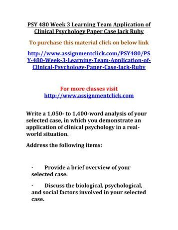 Evaluation of clinical psychology