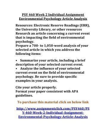 psychology assignment essay
