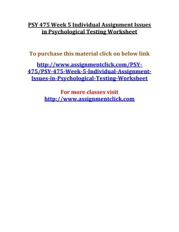 psy 435 week 1 assignment worksheet Psy 435 week 1 industrial/organizational psychology worksheet the purpose of this assignment is to ← psy 480 entire course psy 435 week 2.