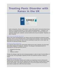 Xanax UK- Anxiolytic Medicine