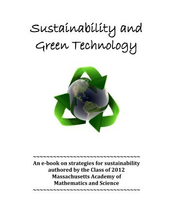 Sustainability and Green Technology - the Scientia Review