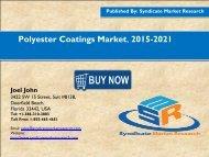 Polyester Coatings Market, 2015-2021